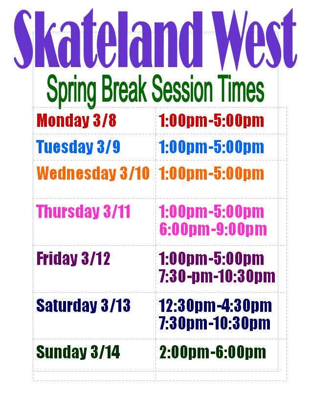 Skateland West - Spring Break 2021